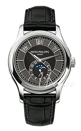 Patek Philippe Complicated Annual Calender Black/Leather Ø40 mm 5205G/010
