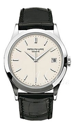 Patek Philippe Calatrava White/Leather Ø38 mm 5296G/010
