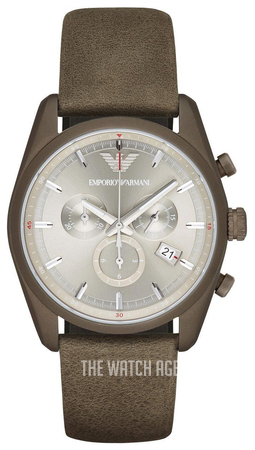 cheap for discount f4824 20885 Sportivo Silver colored/Leather Ø43 mm ref. AR6076